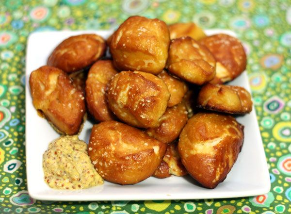Homemade soft pretzel bites | Recipe | Mustard, Homemade and On the ...