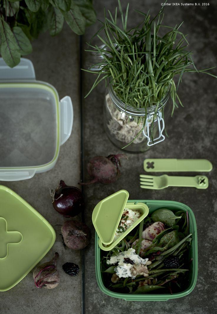 Prânzul de astăzi, salata de aseară. Păstrează ce a rămas de la masa de ieri în cutia BLANDNING pentru a doua zi.