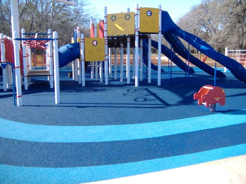 Bonded Rubber Mulch Outdoor Playground Safety