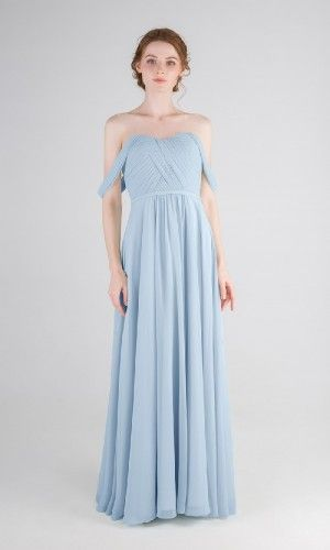 e72694eff42 Floor-Length and Chiffon and Light Sky Blue Long   Short Bridesmaid Dresses    80- 149