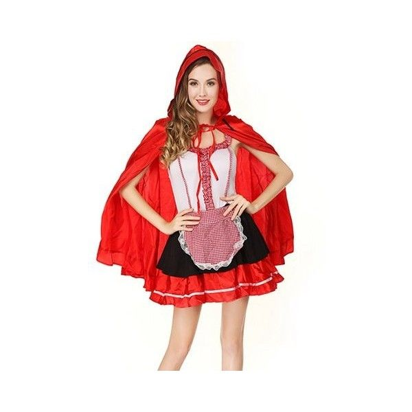 Halloween Little Red Hat Role Play Outfit  Cosplay Sleeveless Costume (38 AUD) ❤ liked on Polyvore featuring costumes, cosplay halloween costumes, sexy role play costumes, role play costumes, sexy halloween costumes and sexy red costumes