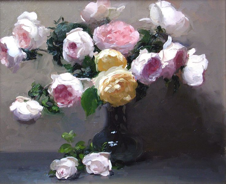 Roses In Garden: 79 Best Images About Flower Paintings Of Dennis Perrin On