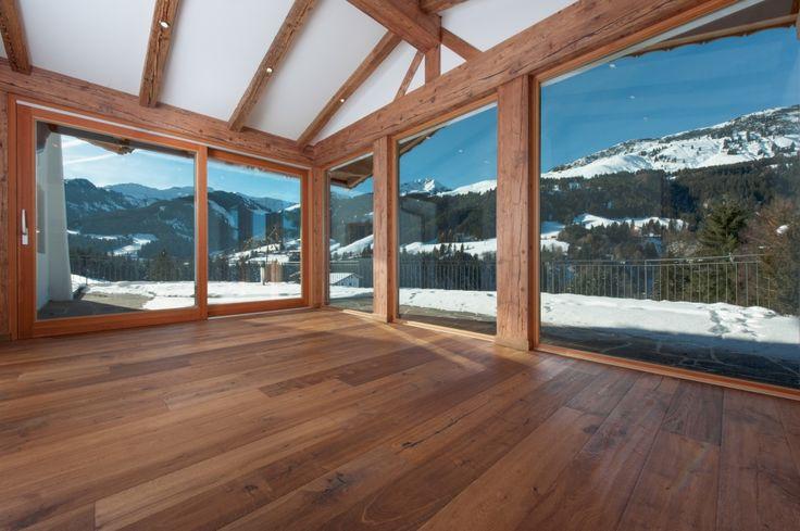 Immobilie Kitzbühel -3- Panorama Fenster im Wohnzimmer