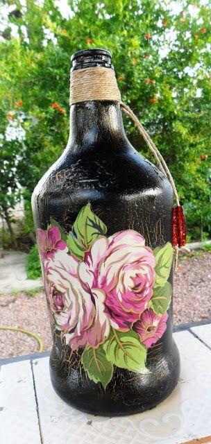 Decoupage Bottles by Carlos Rossi : Outubro 2015