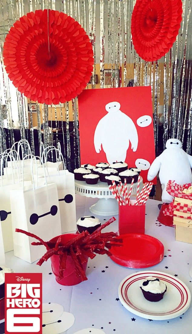 Easy and fun Baymax Party décor! Inspired by Big Hero 6, now available on Blu-ray & Disney Movies Anywhere