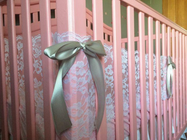 lace breathable crib bumper