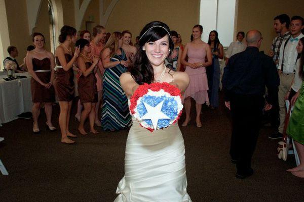 Captain America Wedding Bouquet