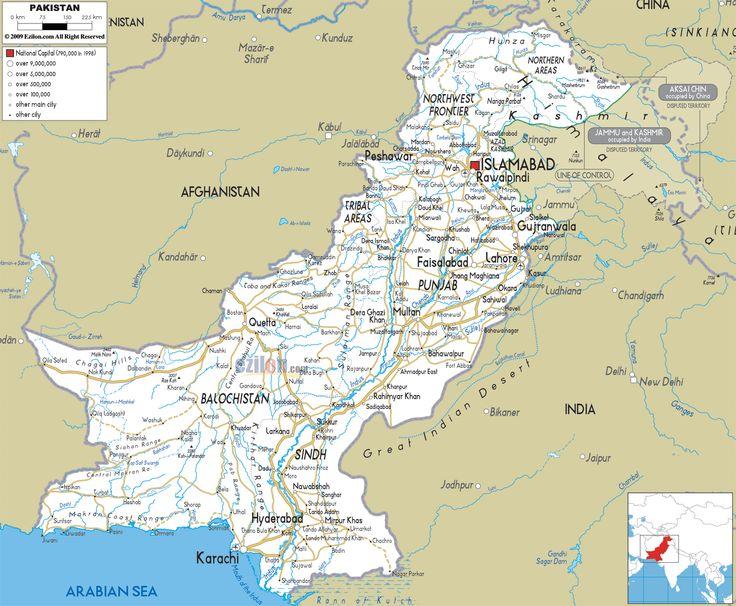 cool Map of Pakistan