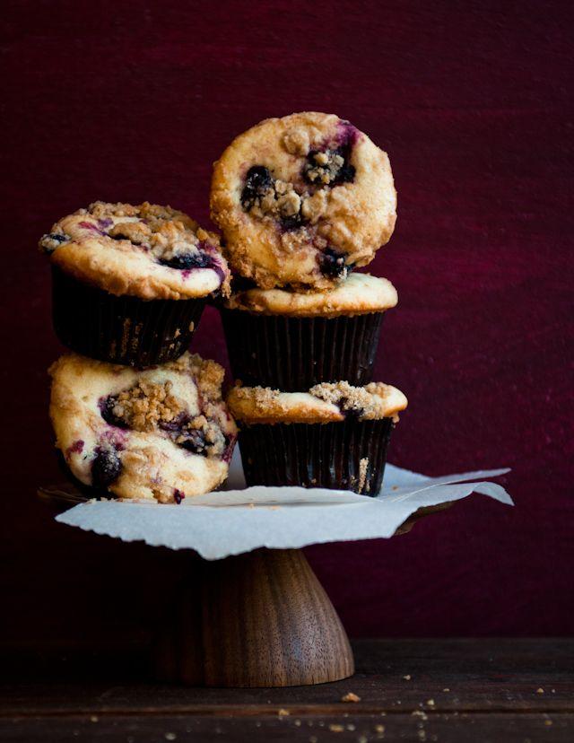 Lemon Verbena and Olallieberry Crumble Muffins