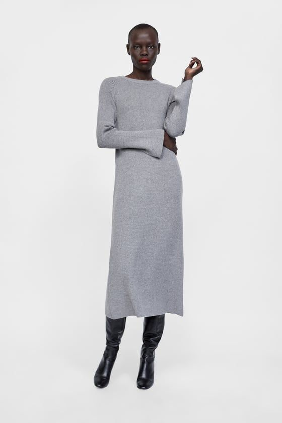 Vestido largo punto mujer