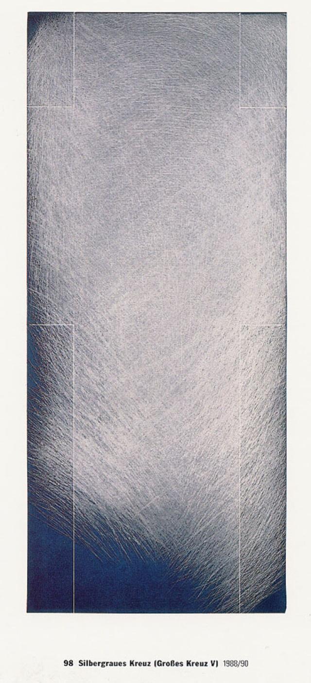 Arnulf Rainer, Kreuz V, 36 - 70: blau/grau (Kat. Nr. 12)