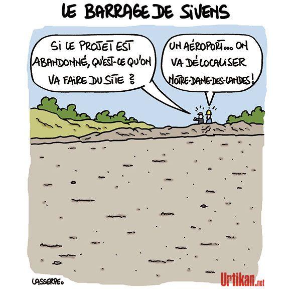 Construction du barrage de Sivens : «Une erreur d'appréciation», selon Ségolène Royal - Dessin du jour - Urtikan.net