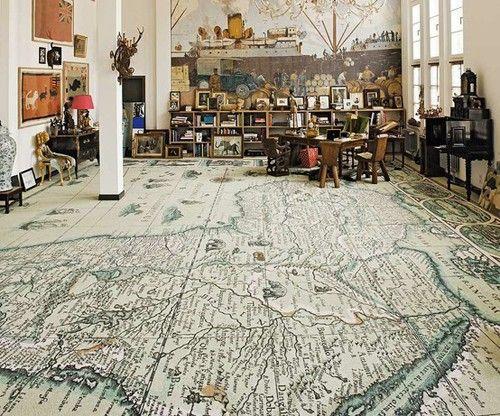 Wow: Decor, Ideas, Dreams, Interiors Design, Living Room, World Maps, Floors Design, House, Maps Floors