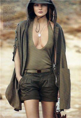 Eniko Mihalik: army green for Vogue Paris - Women's Wear - Fashion - Vogue Paris - Model
