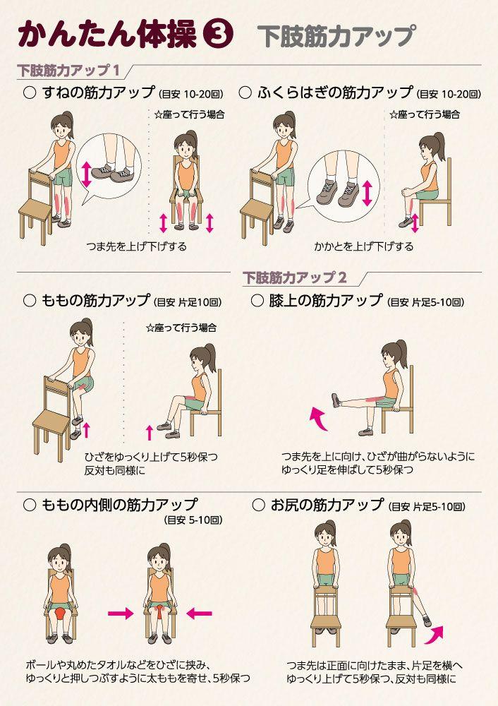 Pin By Fuku Kuru On イラスト転倒予防体操 体操