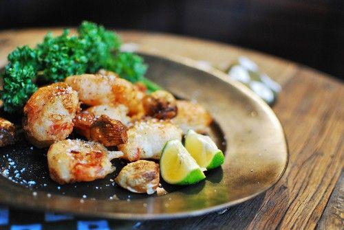 海老とニンニクの中華風天ぷら : ベジタリアンミットゥンと肉食チャースケ
