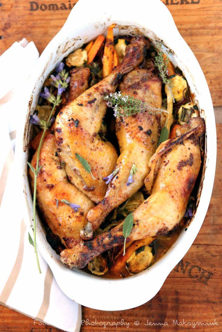 Cuisses de poulet fermier au four