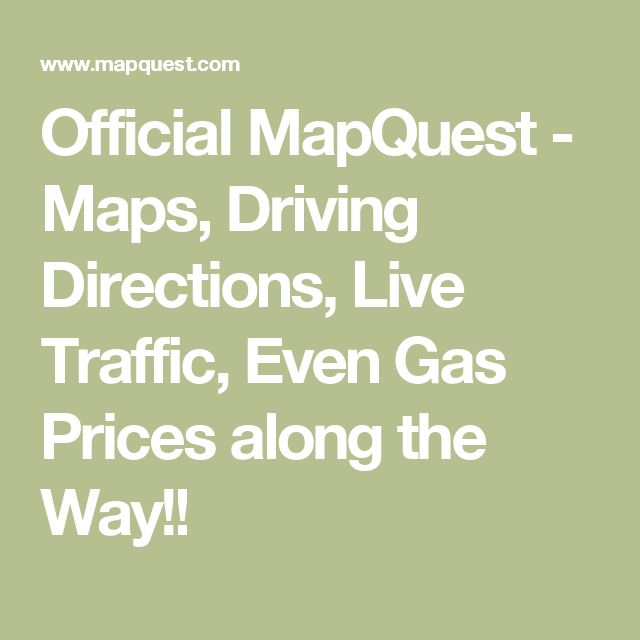 official mapquest maps driving directions live traffic used robin firsthand