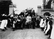 Der Gauleiter Julius Streicher besucht das Diakonissenhaus Hensoltshöhe, 14.Oktober 1934. (Bild: Stadtarchiv Gunzenhausen / Sammlung Biella)