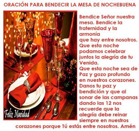 Oraci n para bendecir la cena de navidad oraciones - Ideas de cena de navidad ...