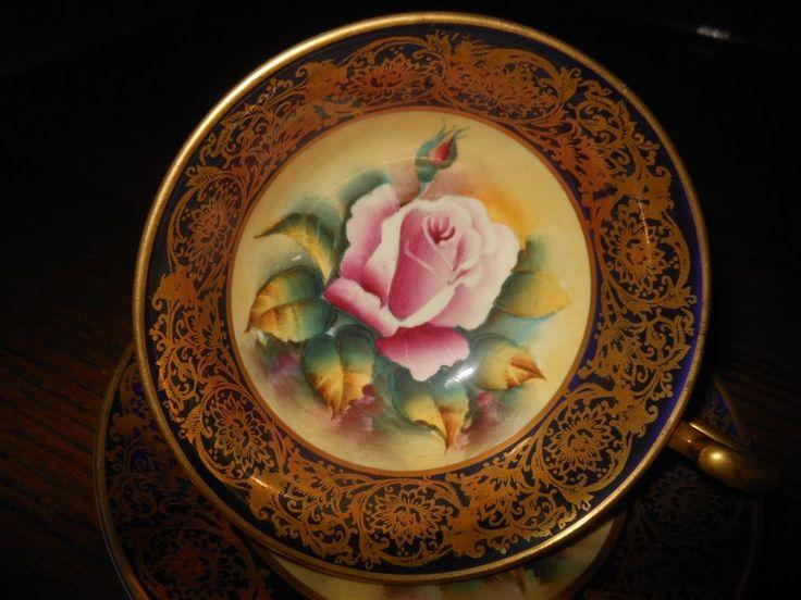 Потрясающий Paragon чашек и блюдец розовая роза на румяна персиковый желтый с золотом на кобальт | Керамика и стекло, Керамика и фарфор, Чайная и столовая посуда | eBay!