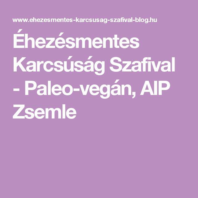 Éhezésmentes Karcsúság Szafival - Paleo-vegán, AIP Zsemle