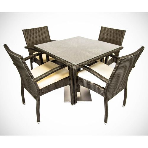 Found it at Wayfair - 5 Piece Dinning Set with Cushions