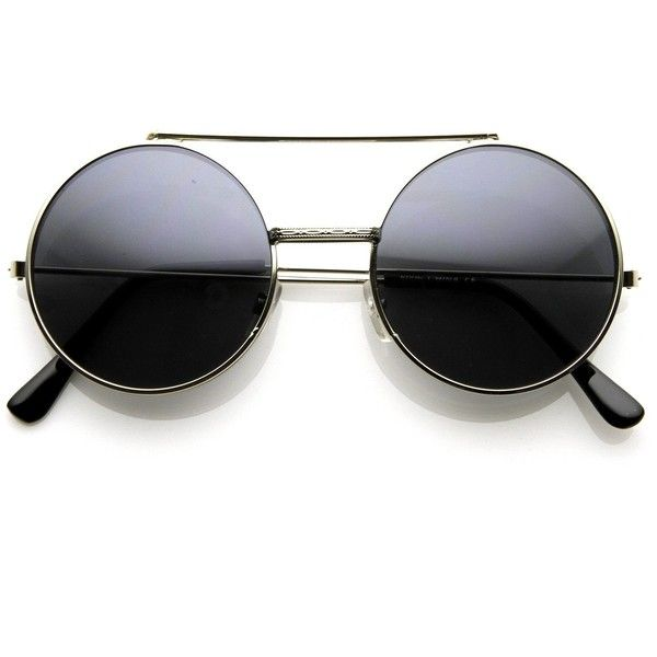 Steampunk vintage retro round circle flip up sunglasses 8795 ($15) ❤ liked on Polyvore featuring accessories, eyewear, sunglasses, vintage steampunk sunglasses, circular sunglasses, circle lens sunglasses, round metal sunglasses and steampunk sunglasses