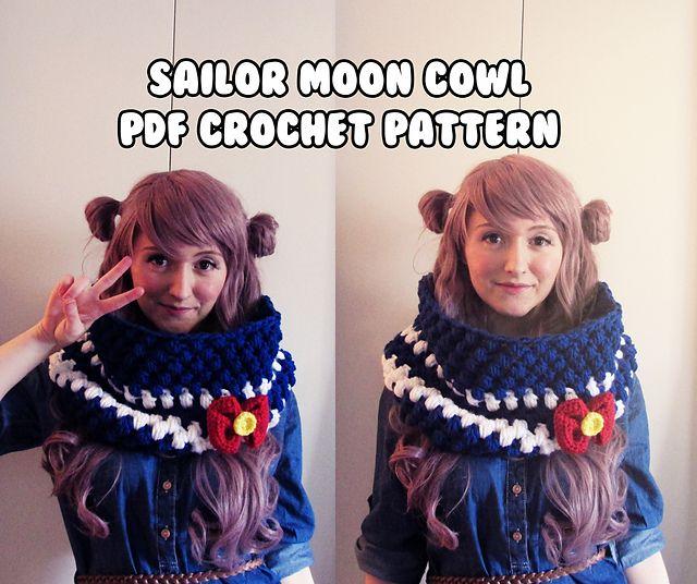 Kawaii anime chunky sailor moon inspired cowl -