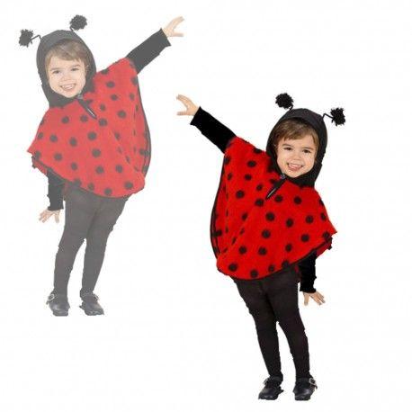 #Disfraz #Poncho #Mariquita, para niños de 1 a 2 años. #Original #disfraz de #mariquita ideal para tú #fiesta de #fin de #curso. Para más info entra en nuestra #tienda de #disfraces #online. Clica aquí http://mercadisfraces.es/animales/disfraz-poncho-mariquita-infantil.html?search_query=poncho&results=20