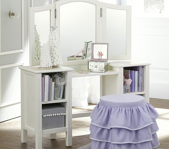 Madeline Play Vanity Pottery Barn Kids Ava Likes This Except The Ruffly Stool Kids Pinterest