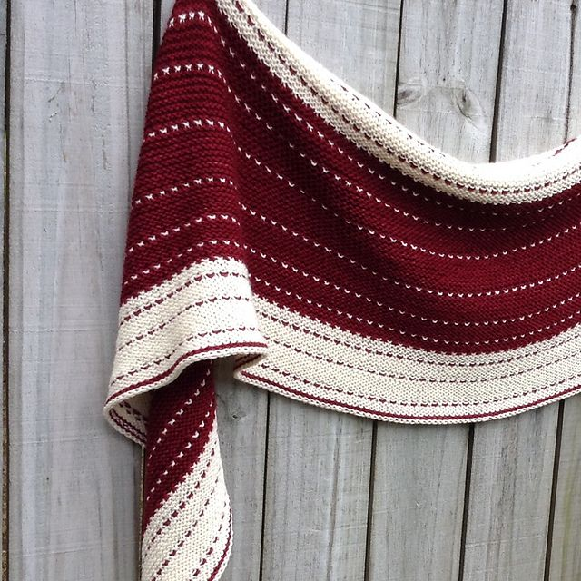 Pearldancer by Lisa Hannes | malabrigo Sock in Tiziano Red and Natural