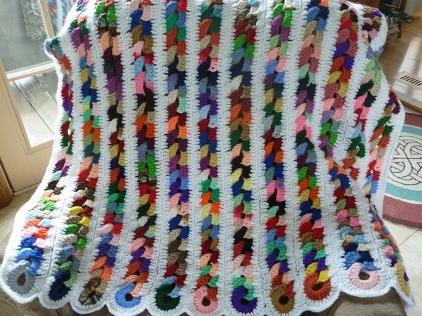 Crochet Blanket Using Scrap Yarn