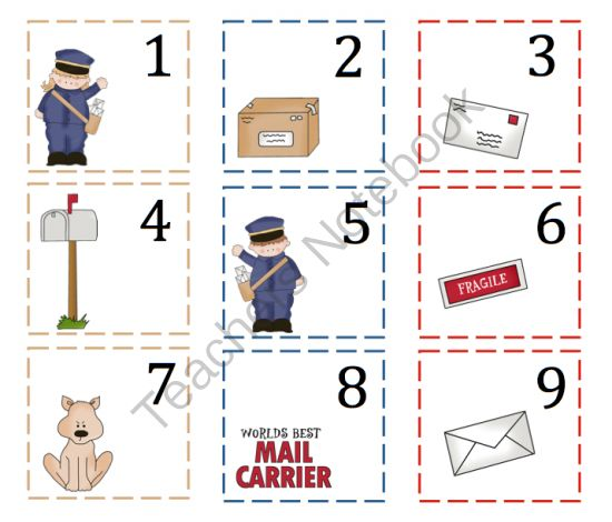 mail carrier activities for preschool mail carrier printable preschool printables post 33061