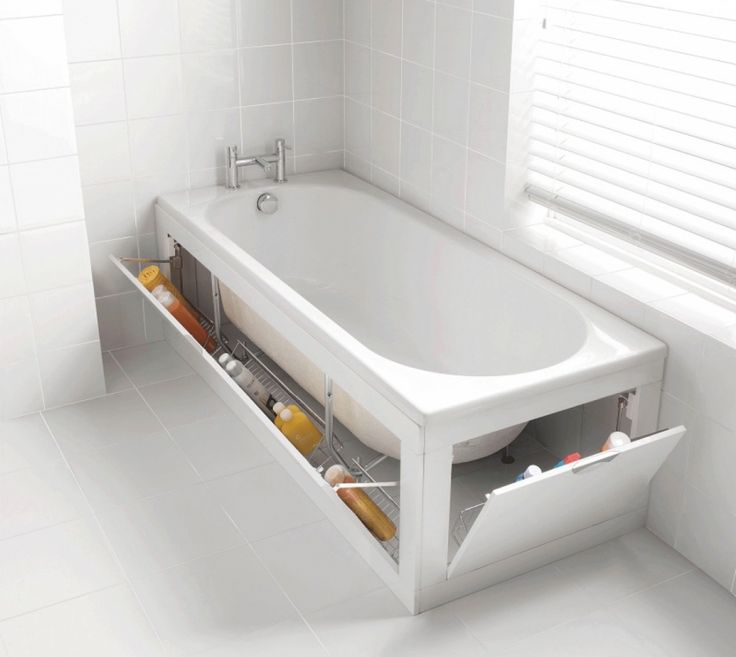 Tub storage - http://brightside.me/article/15-ideas-for-a-perfect-bathroom-74805/
