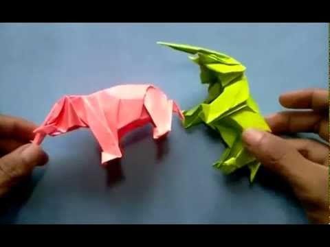 Origami Elephant Satoshi Kamiya  Pegasus Tutorial P1                                                                                                                                                      More