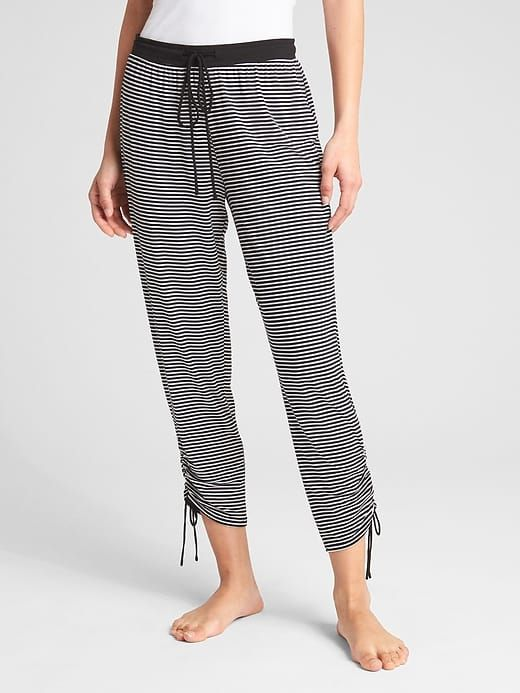 be66217cf9c0f Gap Womens Gathered Ankle Joggers Black Stripe | Products | Pajama ...