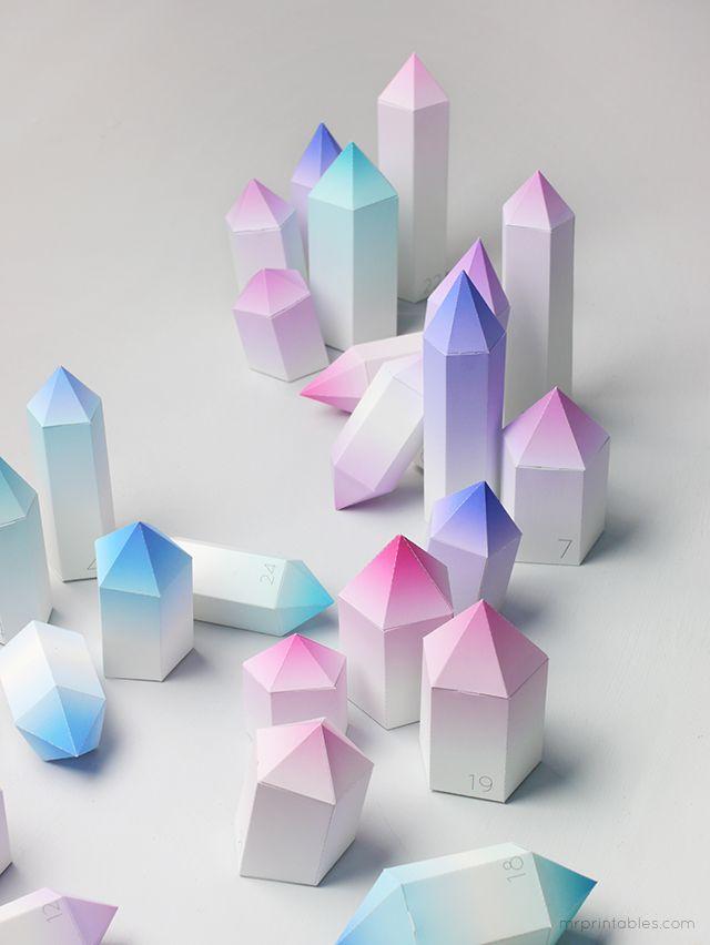 Crystal Christmas Advent Calendar - Mr Printables
