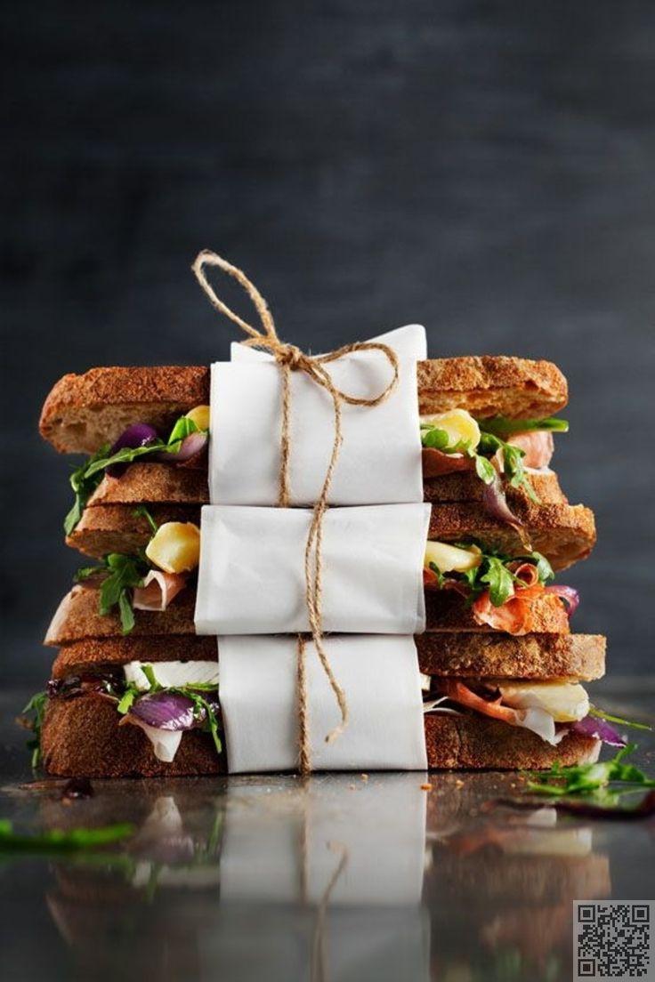 13. #Brie, Prosciutto, #Arugula and Caramelized #Onion Sandwich - Here Are the…