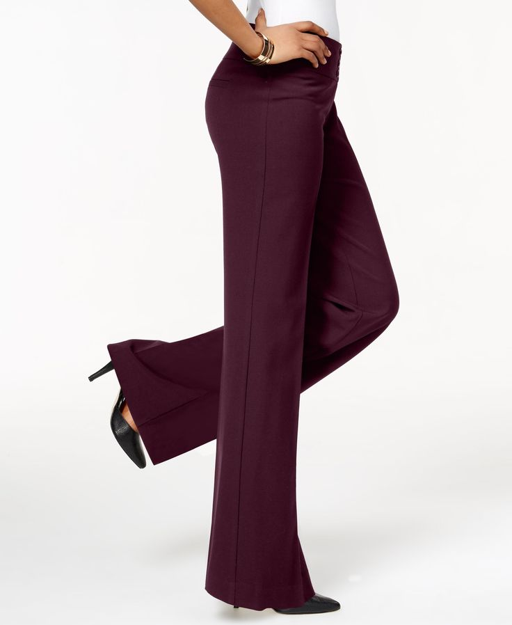 Style&co.'s wide-leg pants are cut to flatter your figure, crafted with a touch of stretch so they resist wrinkles and hold their shape from morning to evening. We love how they make any outfit feel i