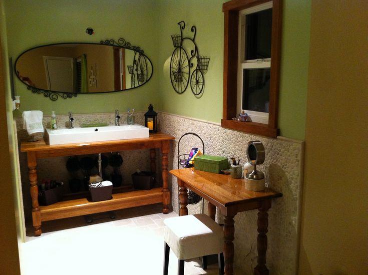 Ikea trough sink on custom vanity bathroom remodel - Ikea bathroom sinks and vanities ...