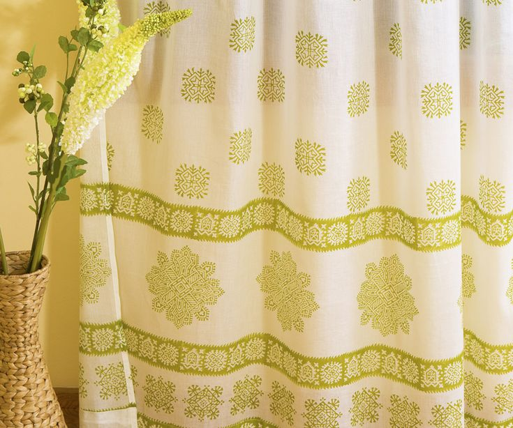 Indian Curtains   Olive Green Curtains   Hand Block Printed From Attiser