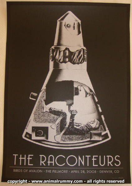 2008 The Raconteurs - Denver Concert Poster by Rob Jones