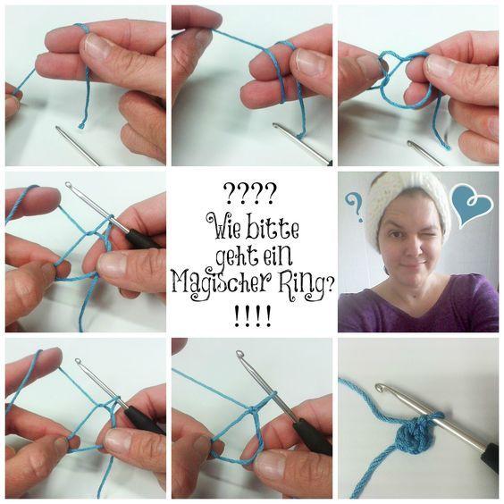 """Wie geht denn eigentlich ein Magischer Ring auf englisch Magic Loop? Für unser neues Häkelbuch """"Süße Minis häkeln"""" brauchst du ihn für einige Anleitungen."""