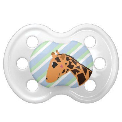 Cute Giraffe Drawing with Stripes Pacifier - personalize design idea new special custom diy or cyo