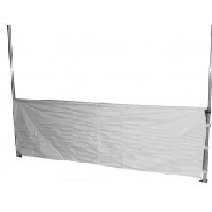 Half Wall Support Bars are designed for our larger sides to prevent bowing. We recommend the accessory for all the following sizes: 3x3, 3x4,5 and 3x6m.  Half sidewalls are available for our entire range of folding tents - Available in our standard colors.