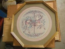 Home Interior octagon picture od horse carousel  (REDUCE