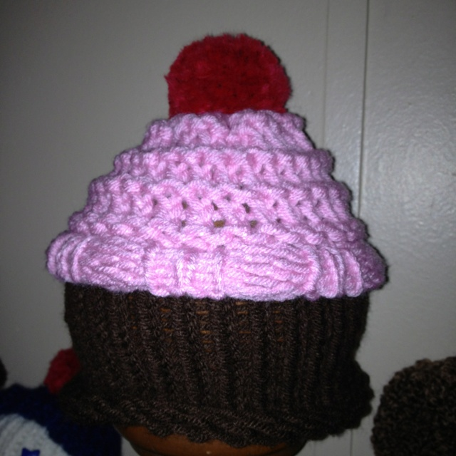Knitting Loom Hat : Loom knit cupcake hat knitting pinterest need to and