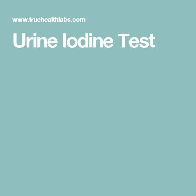 Urine Iodine Test