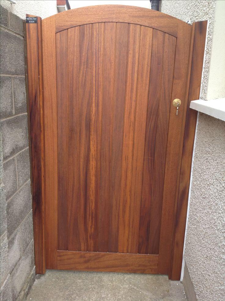 Teak side gate by BurkeJoinery. Craftsmen.